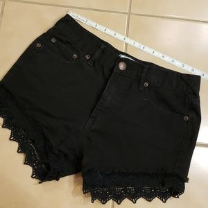 Free People Boho High Waist Crochet Shorts